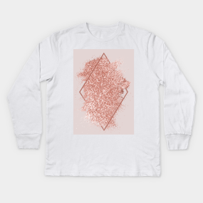 a8ca6117 Rose Gold Glitter Geometric Art Kids Long Sleeve T-Shirt. by  NewburyBoutique. $24. Main Tag ...