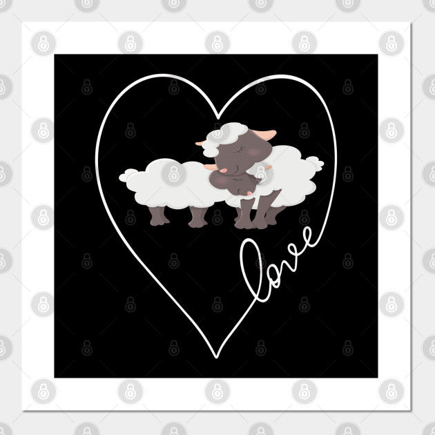 Mothers Day Son Daughter Matching Sheep Love Heart Mothers Day Gift Ideas Posters And Art Prints Teepublic