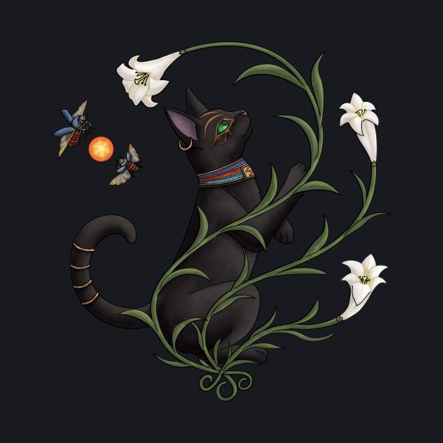 Bastet Among the Lilies