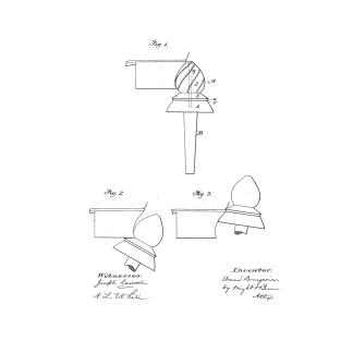 f996b97b Heel Burnishing Tool Vintage Patent Hand Drawing T-Shirt