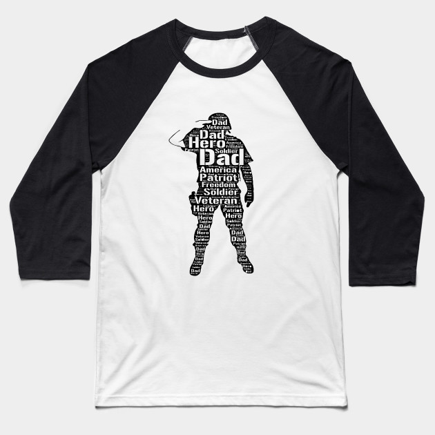 536bddb1 My Dad is a Veteran and My Hero Shirt - Veteran Dad Gift - Baseball ...