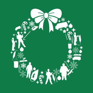 Home Alone Christmas Wreath Pattern t-shirts