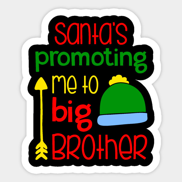 50126b9c8f Big Brother Christmas Pregnancy Announcement Shirt Sibling Holiday  Announcement Sticker