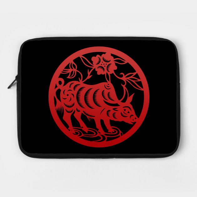 Chinese Zodiac Ox in Red