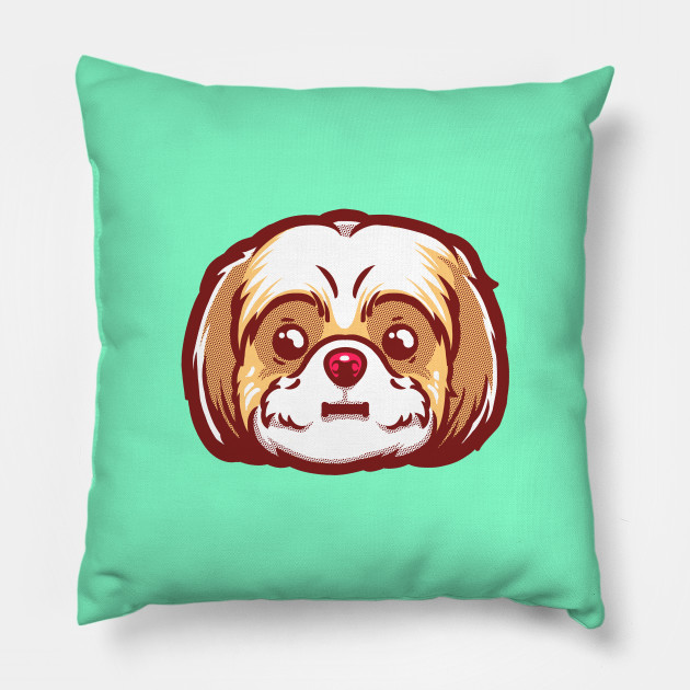 Chilly Bear The Shih Tzu Animal Pillow Teepublic