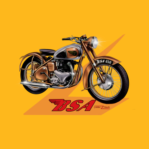 The BSA Golden Flash Motorcycle by MotorManiac - Bsa Motorcycle - T ...