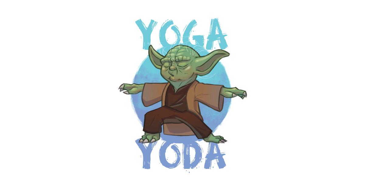 Yoga Yoda Star Wars Sticker Teepublic