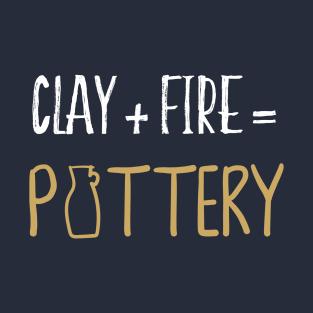 ffcafbdda05 Clay & Fire Pottery TShirt - Ceramic Studio Shirt T-Shirt