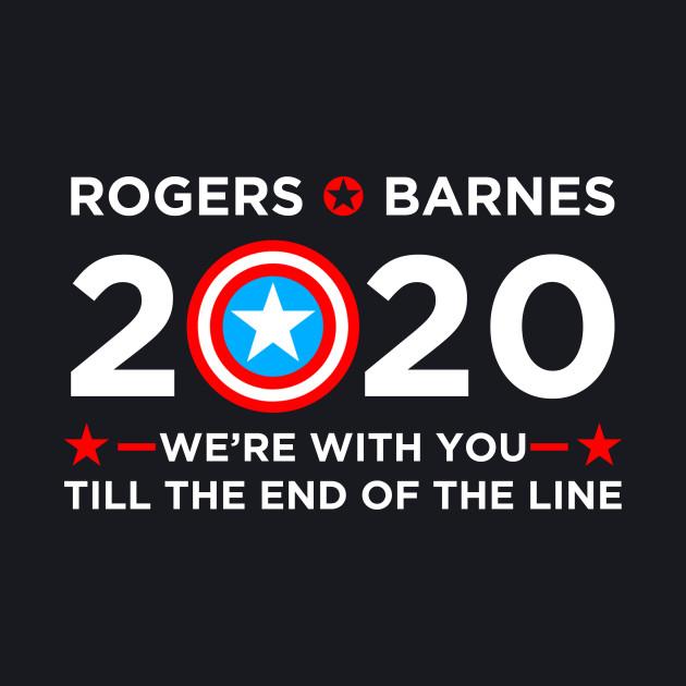 2020 Vote for Captain America Civil War Political Campaign Steve Rogers (white)