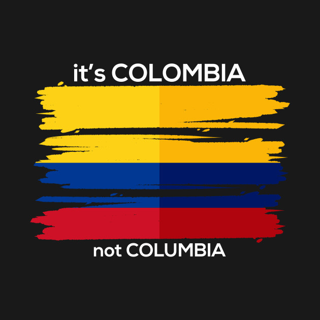 colombia t shirt colombian flag tee travel vacation souvenir