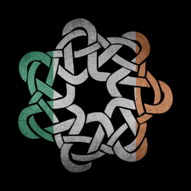 Beautiful Irish Flag Colored Celtic Ornament Knot