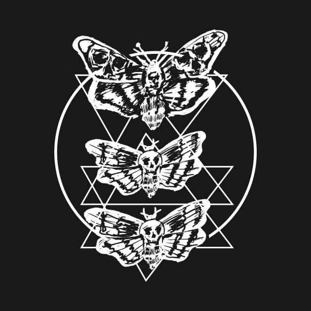 Death Moth Sacred Geometry Witchy Punk Goth