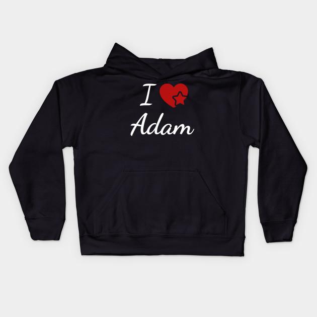 I Love Heart Adam Black Kids Sweatshirt