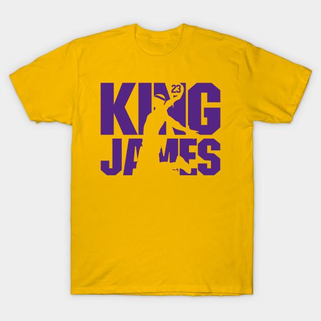 9d4e41b6aa2 King James Lakers - Lebron James - T-Shirt