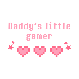 Daddy's little gamer t-shirts
