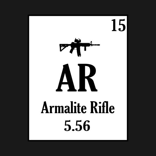 Ar 15 Periodic Table Style Gun Shirt Ar 15 Gun Rights T Shirt