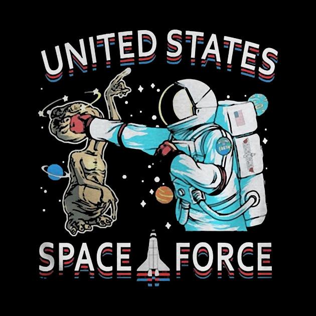 United States Space Force Astronaut Punching Alien by hannahgate