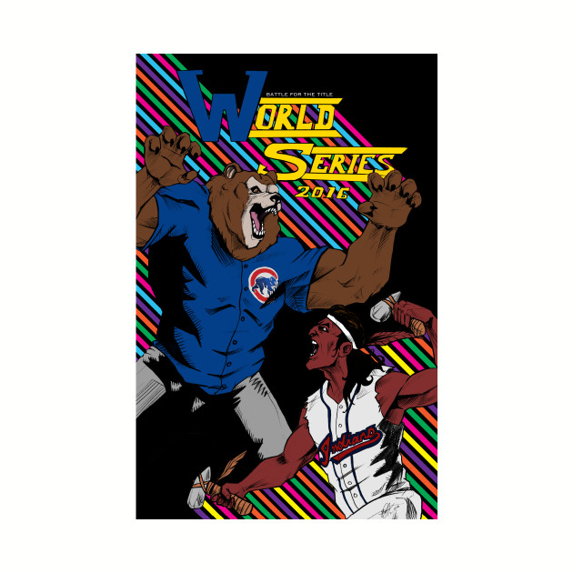 Cubs vs Indians World Series Comic Cover