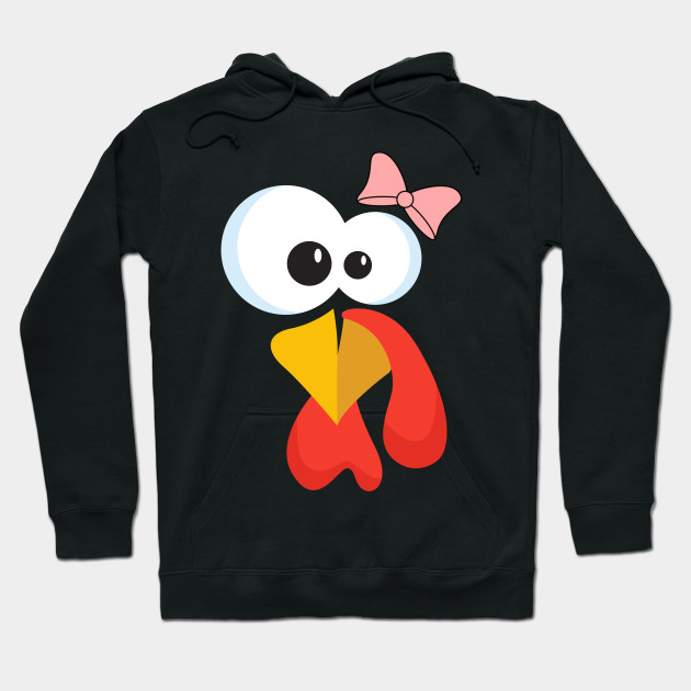 Turkey Face with Bow tie Hoodie