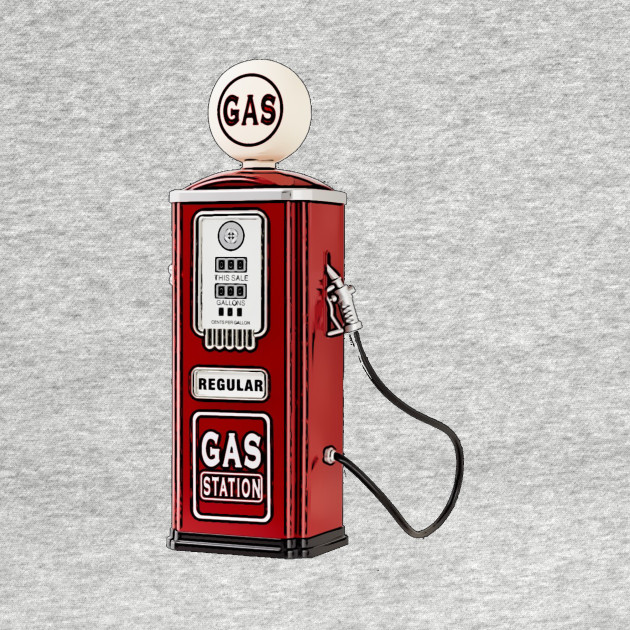 Vintage gas pump - Vintage - T-Shirt | TeePublic