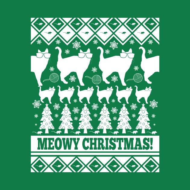 Meowy Christmas - Ugly Christmas Shirt