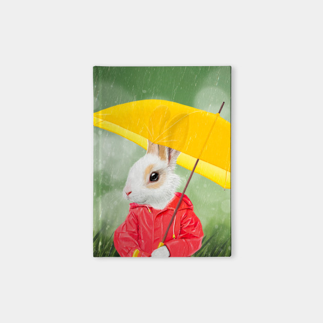It's raining, little bunny