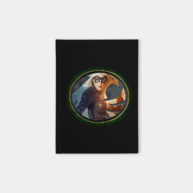 Black Canary Symbol Black Canary Notebook Teepublic