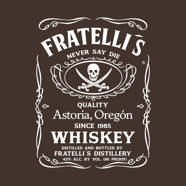 Fratellis whiskey the goonies t shirt teepublic