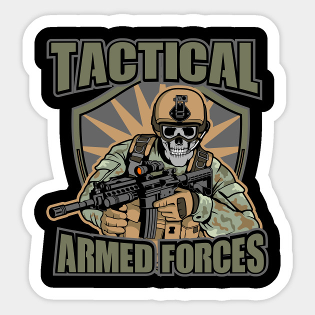 skull army military sticker teepublic teepublic