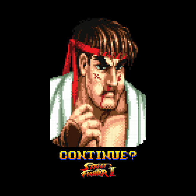 STREET FIGHTER RYU DEFEATED
