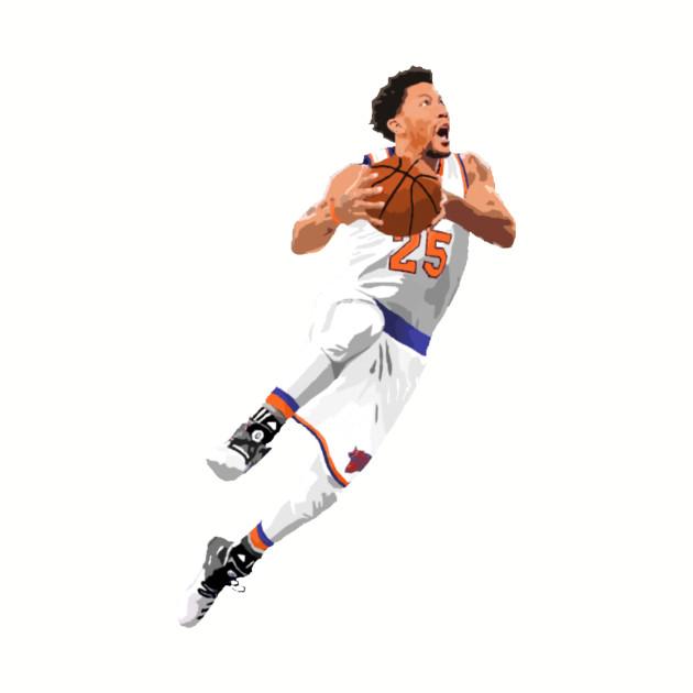 Derrick Rose Knicks Layup