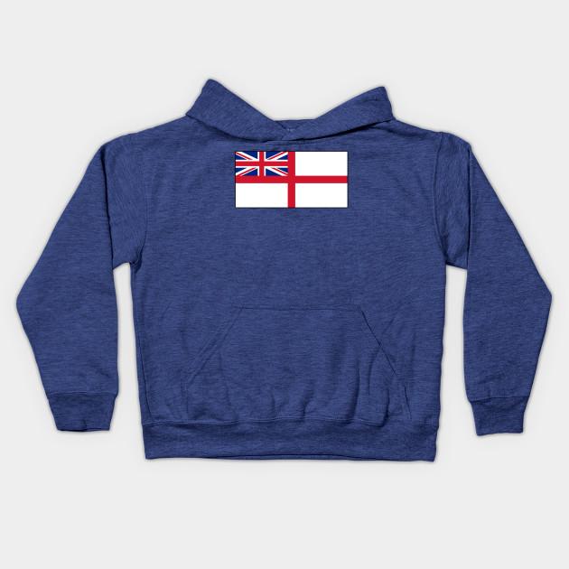 8ce70d67e White Ensign, Flag, Royal Navy, Ships, St George's Cross, St George's  Ensign, Navy, Blue Kids Hoodie