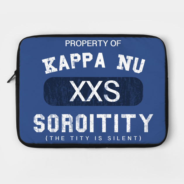 Property of Kappa Nu Soroitity (The Tity Is Silent) Washed Out White Text