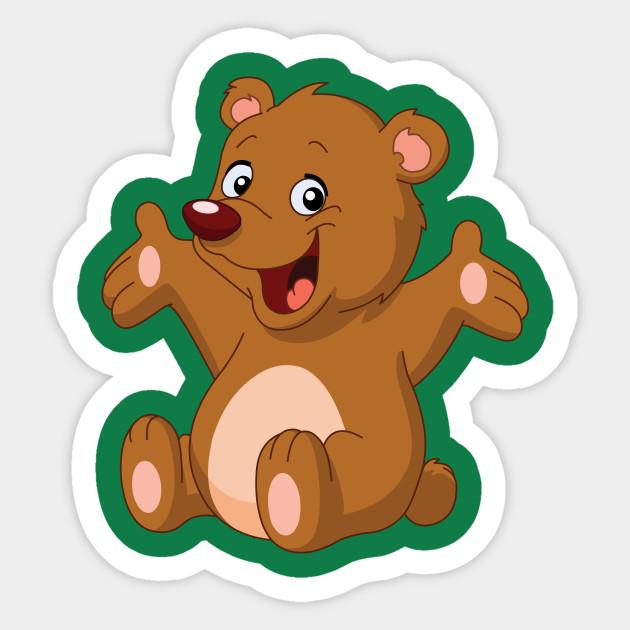 happy teddy bear teddy bear sticker teepublic