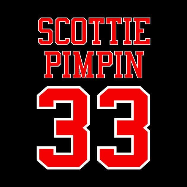 Scottie Pimpin 33 Jersey Shirsey (Black & White Lettering) T-Shirt