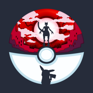d517628a Pikachu and Mewtwo Pokeball T-Shirt