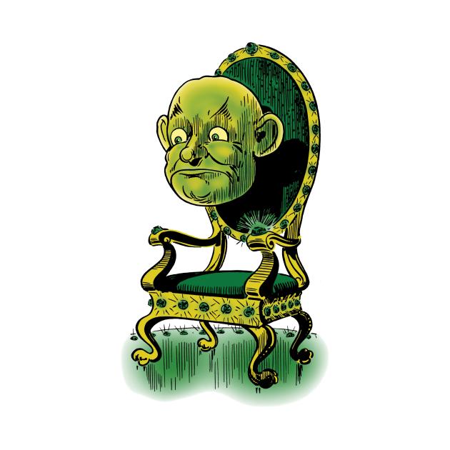 Vintage Wizard of Oz Emerald Throne