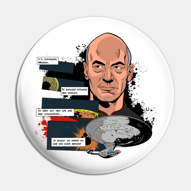 Picard TNG comic style