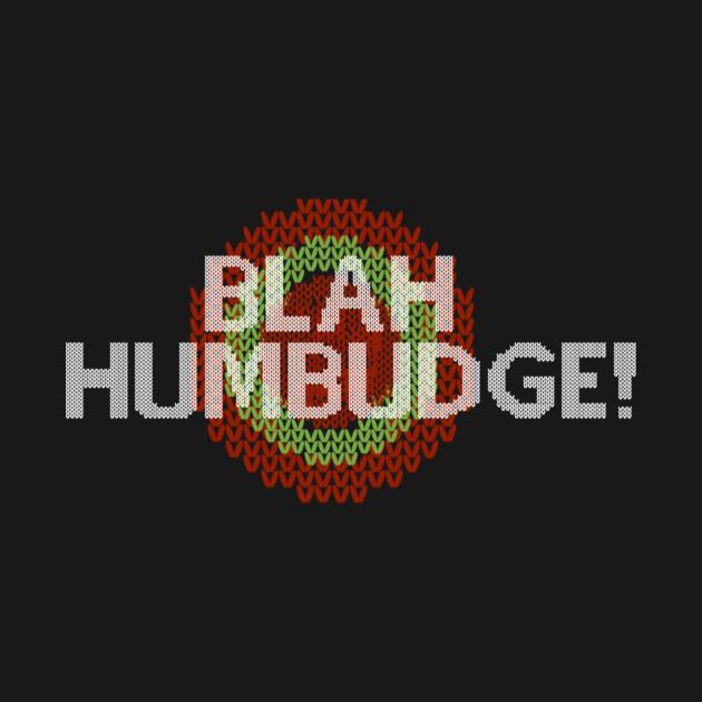 Blah Humbudge Faux Christmas Sweater
