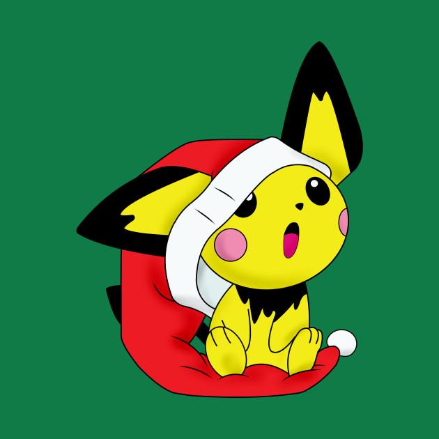 Pichu Xmas - Pokemon - T-Shirt | TeePublic