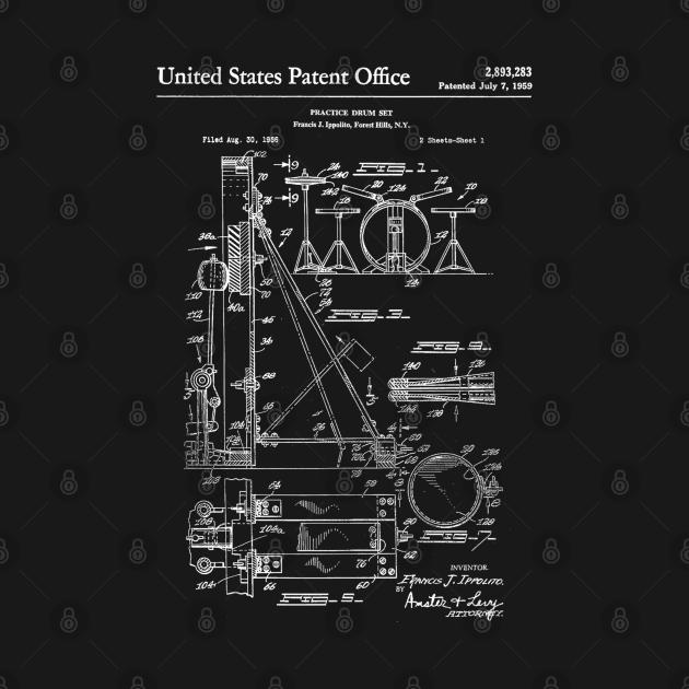 Drum Set Patent White