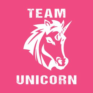 Team Unicorn White t-shirts