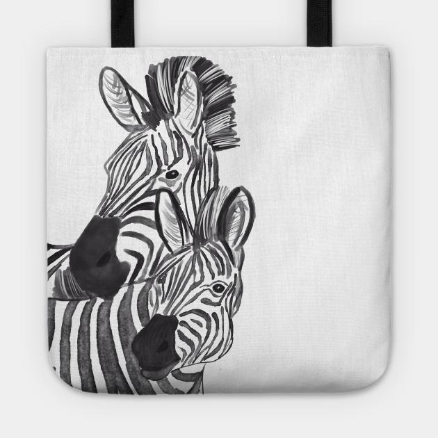 Zebra couple animal wild art unique design