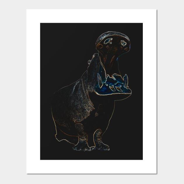 hippo - Hippo - Posters and Art Prints | TeePublic UK