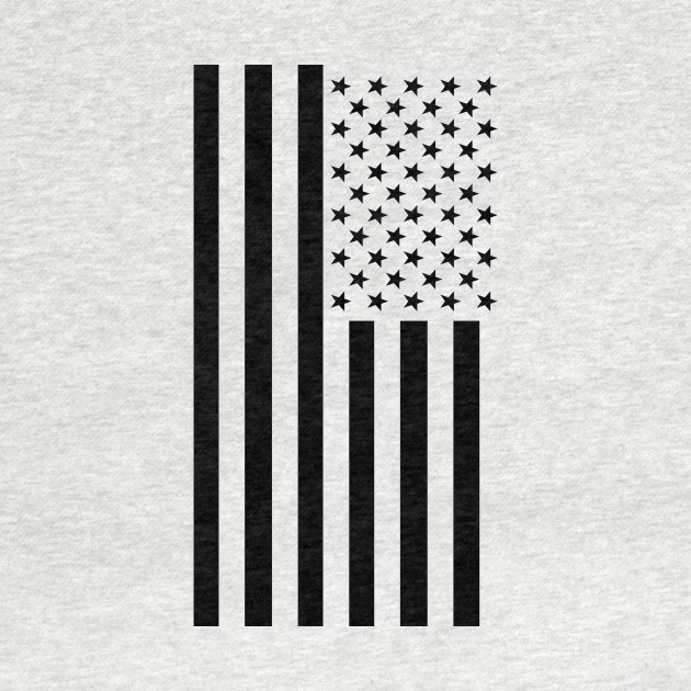 Black & White American Flag