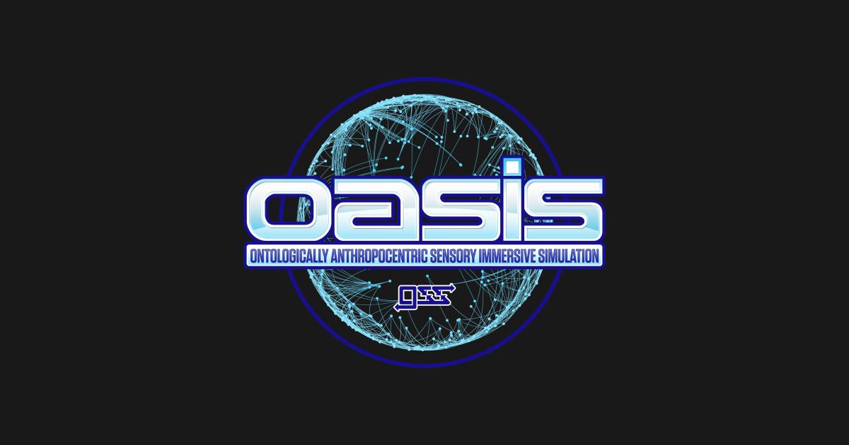 Oasis Logo Ready Player One T Shirt Teepublic