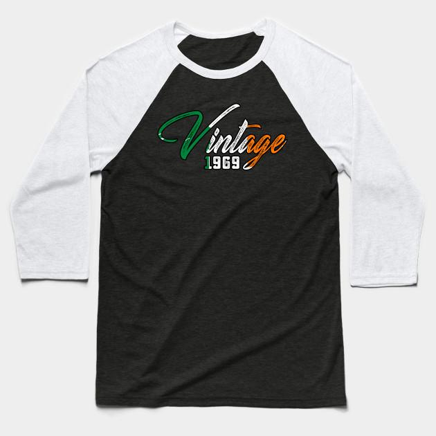Irish 1969 50th Birthday Gift T Shirts 50 Years Old Baseball Shirt