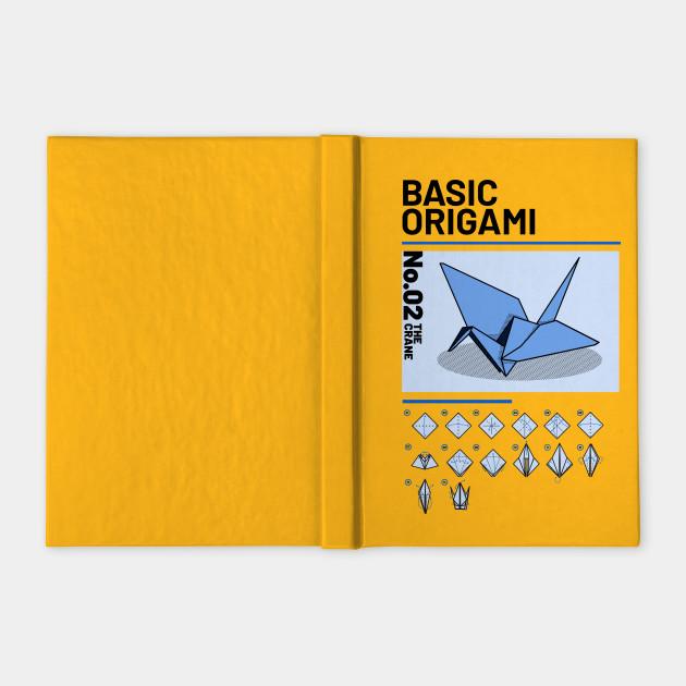Basic Origami Instruction Crane Origami Notebook Teepublic