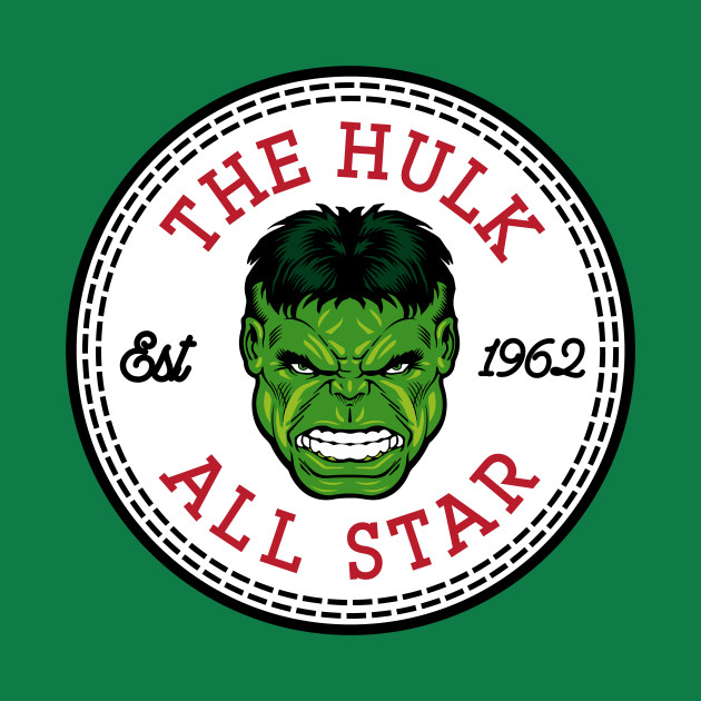 The Incredible Hulk All Star Converse Logo