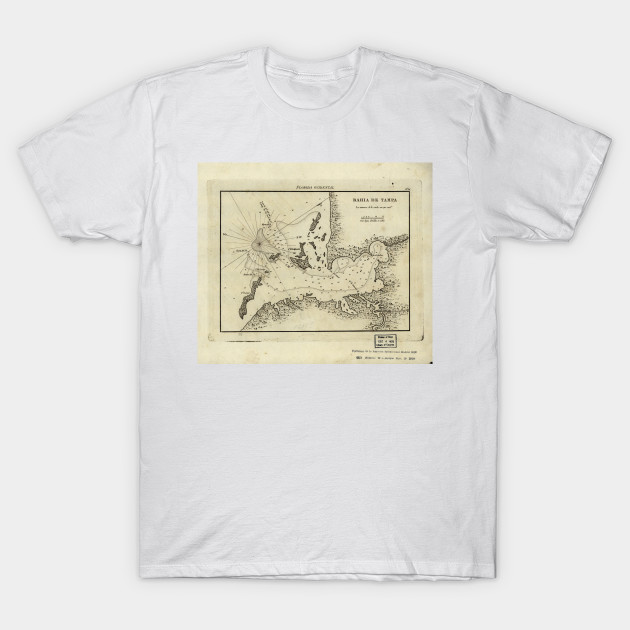 Map Of Tampa Florida.Vintage Map Of Tampa Florida 1809 Tampa Map T Shirt Teepublic